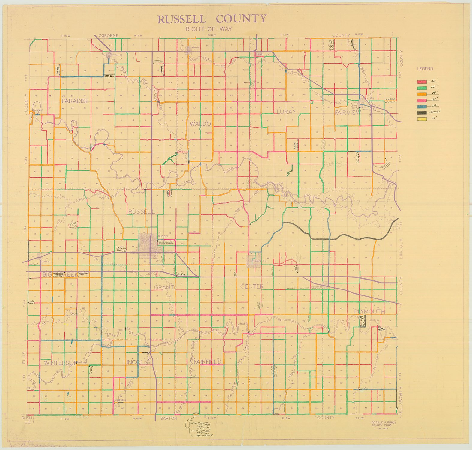 Russell County Road Right of Way Map