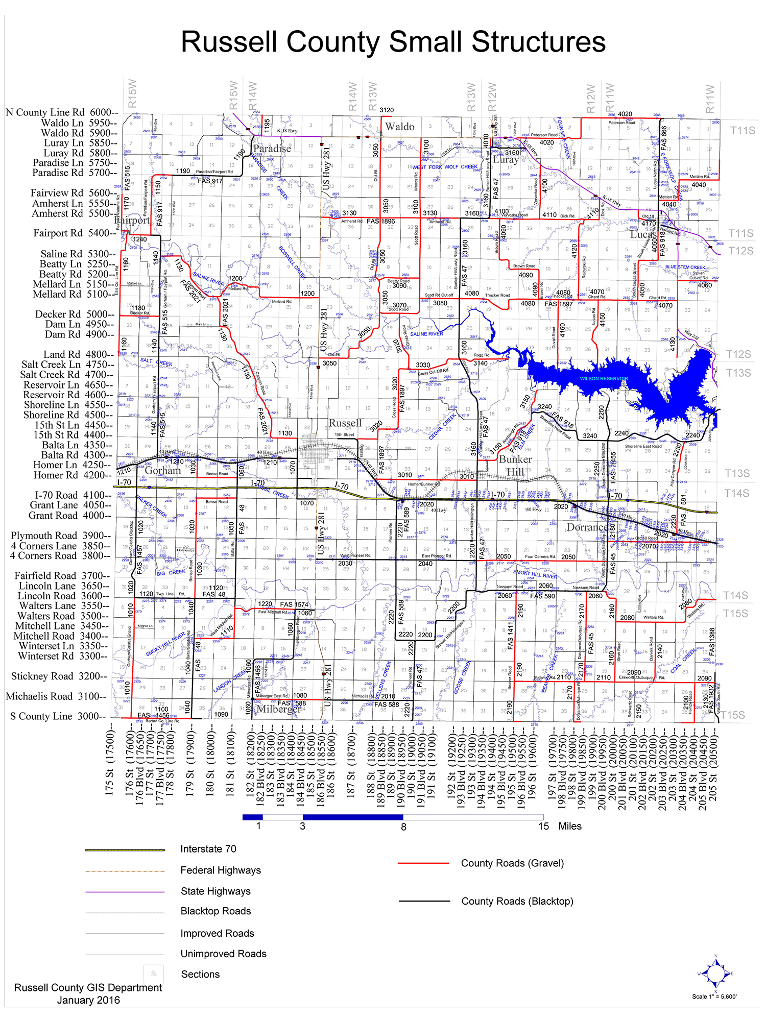 Russell County Small Structure Map